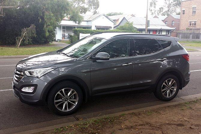 auto review 2015 hyundai santa fe elite exhaust notes australia