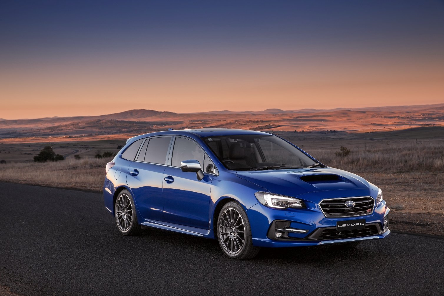 Levorg Boosted For 2018 Blue Sti With White Rims Subaru