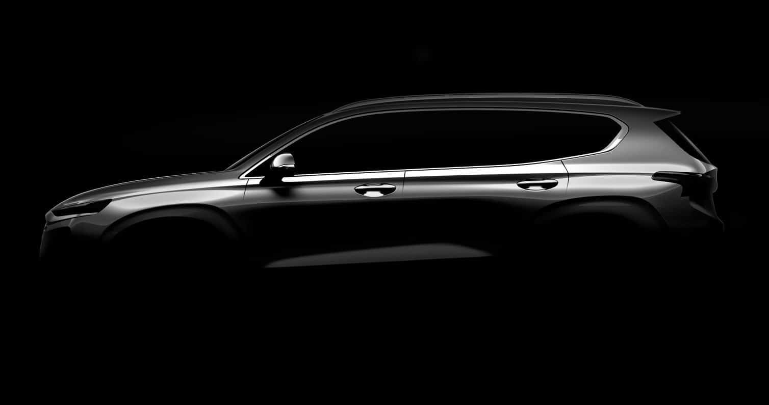 Hyundai Santa Fe teased ahead of Geneva debut