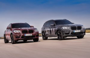 Prototypes of the BMW X3 M and the BMW X4 M